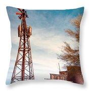 Desert Lighthouse Throw Pillow