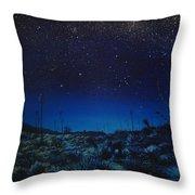 Desert Meteor Throw Pillow