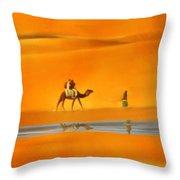 Desert Mirage Throw Pillow
