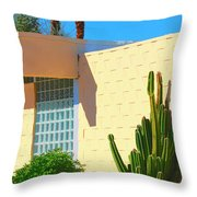 Desert Modern 7 Lakes Palm Springs Throw Pillow