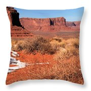 Desert Monuments Throw Pillow