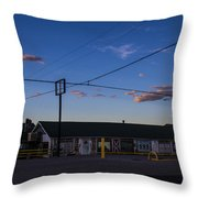 Desert Motel 2 Throw Pillow