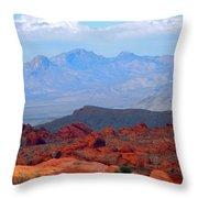 Desert Mountain Vista Throw Pillow
