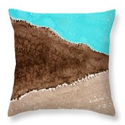 Desert Mountains Original Painting Throw Pillow