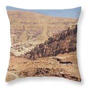 Desert Of Wadi Musa Throw Pillow