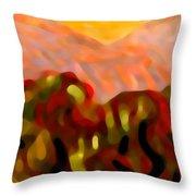 Desert Olive Trees Throw Pillow