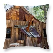 Desert Outback Farm Building Throw Pillow