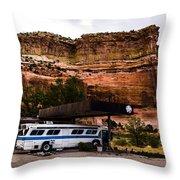 Desert Pit Stop Throw Pillow