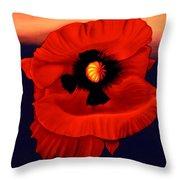 Desert Poppy Throw Pillow