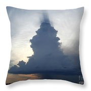 Desert Rainstorm Throw Pillow
