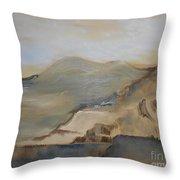 Desert Reservoir Throw Pillow