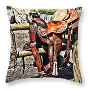 Desert Rider Throw Pillow