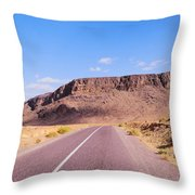 Desert Road In Morocco Throw Pillow