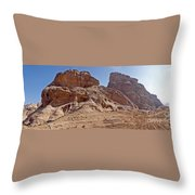 Desert Ship Throw Pillow
