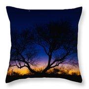 Desert Silhouette Throw Pillow