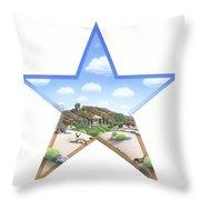 Desert Star Throw Pillow