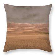Great Sand Dunes Approaching Storm Throw Pillow