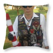 Desert Storm Veteran Peart Park Casa Grande Arizona 2006 Throw Pillow