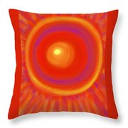 Desert Sunburst Throw Pillow by Daina White