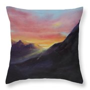 Easter Sunrise Throw Pillow