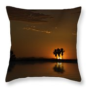Desert Sunset Throw Pillow by Lynn Geoffroy