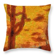 Desert Sunset Photo Art 04 Throw Pillow