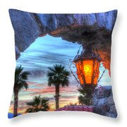 Desert Sunset View Throw Pillow