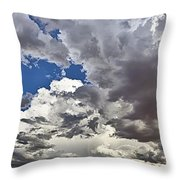 Desert Thunderstorm 1 Throw Pillow
