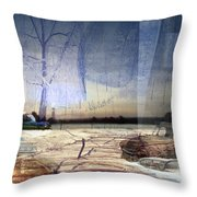 Desert Tracks Throw Pillow