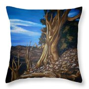 Desert Tree Throw Pillow