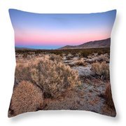 Desert Twilight Throw Pillow