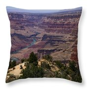 Desert View Grand Canyon Throw Pillow