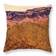 Desert View In Arizona By The Colorado River Throw Pillow