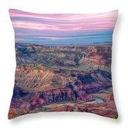 Desert View Sunset Throw Pillow
