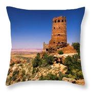 Desert View Watchtower Throw Pillow