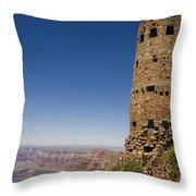 Desert View Watchtower Grand Canyon National Park Arizona Throw Pillow