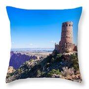 Desert View Watchtower Overlook Throw Pillow