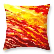 Desert Wind Abstract I Throw Pillow
