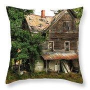 Deserted Along Time Ago Throw Pillow
