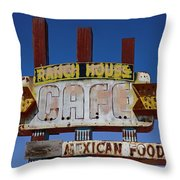 Deserted Cafe Throw Pillow