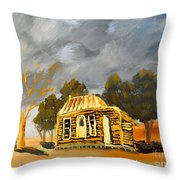 Deserted Castlemain Farmhouse Throw Pillow