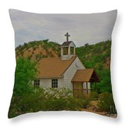 Deserted Church Throw Pillow