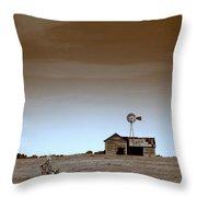 Deserted Farmhouse Throw Pillow