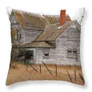 Deserted House Throw Pillow