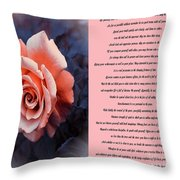 Desiderata Coral Rose Sidebyside Throw Pillow
