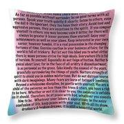 Desiderata On Abstract Heart Watercolor Throw Pillow