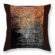 Desiderata On Gold Throw Pillow