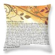Desiderata On Golden Leaves Throw Pillow