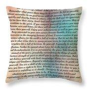 Desiderata On Grand Canyon Watercolor Throw Pillow
