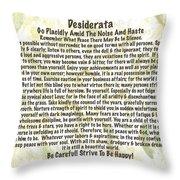Desiderata On Leafy Watercolor Throw Pillow